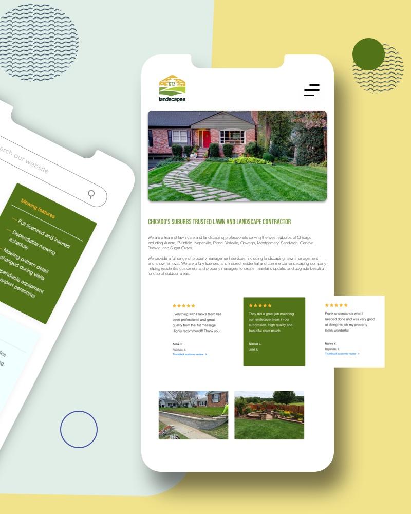 Lawn and landscape website design